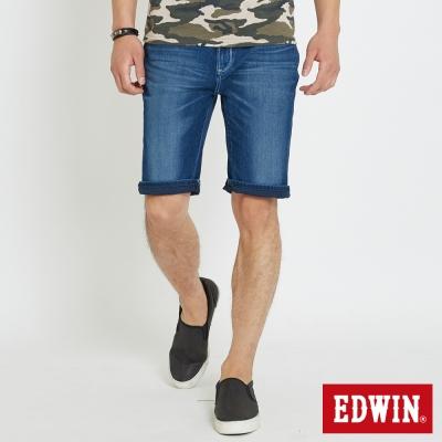EDWIN 迦績褲JERSEYS涼感短褲-男-石洗綠