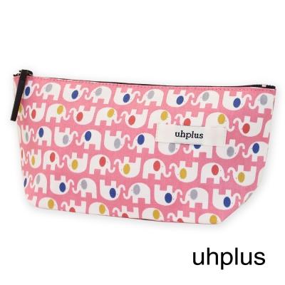 uhplus 萬用收納包-彩色小象(粉紅)