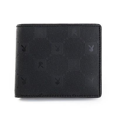 PLAYBOY- 零錢袋短夾 黑夜爵士系列-爵士黑