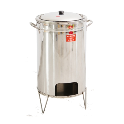 Home Feeling 不鏽鋼桶子雞爐(304加大型)-烤雞/露營/可烤2隻雞