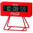 SEIKO精工 可口可樂聯名計時限量小桌鐘-10.5x9.5cm