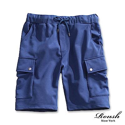 ROUSH 韓版雙口袋水洗棉質短褲(3色)