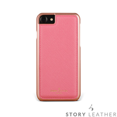STORYLEATHER i7 / i8 4.7吋 手機殼 十字紋淺粉紅現貨