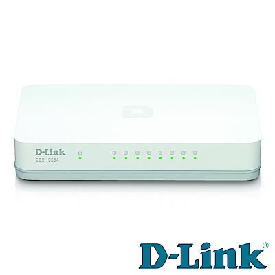 D-Link DGS-1008A 8埠節能桌上型網路交換器