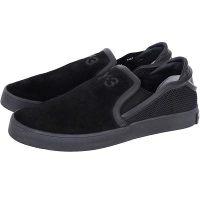 Y-3 LAVER SLIP-ON 麂皮拼接休閒便鞋(黑)