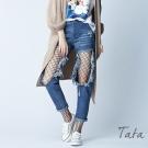 時尚大破洞牛仔褲 TATA