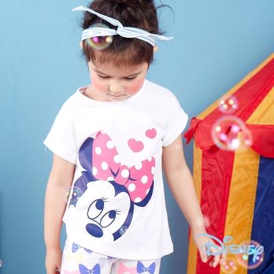 Disney個性不對襯印圖上衣 白色
