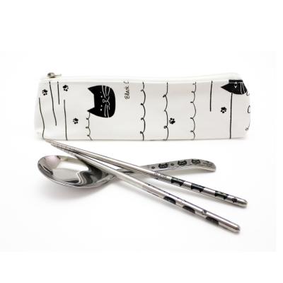 不鏽鋼隨身匙筷組附收納袋