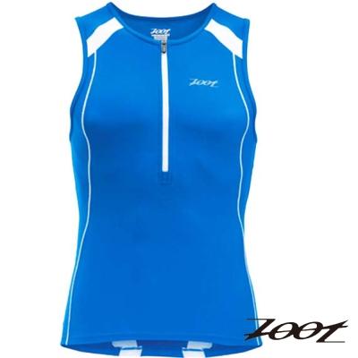 2014 ZOOT 專業級半拉式鐵人上衣 (男-寶藍白) Z1406020 路跑