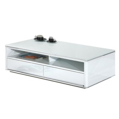 Boden-黛爾4.3尺白色玻璃大茶几-130x70x39cm