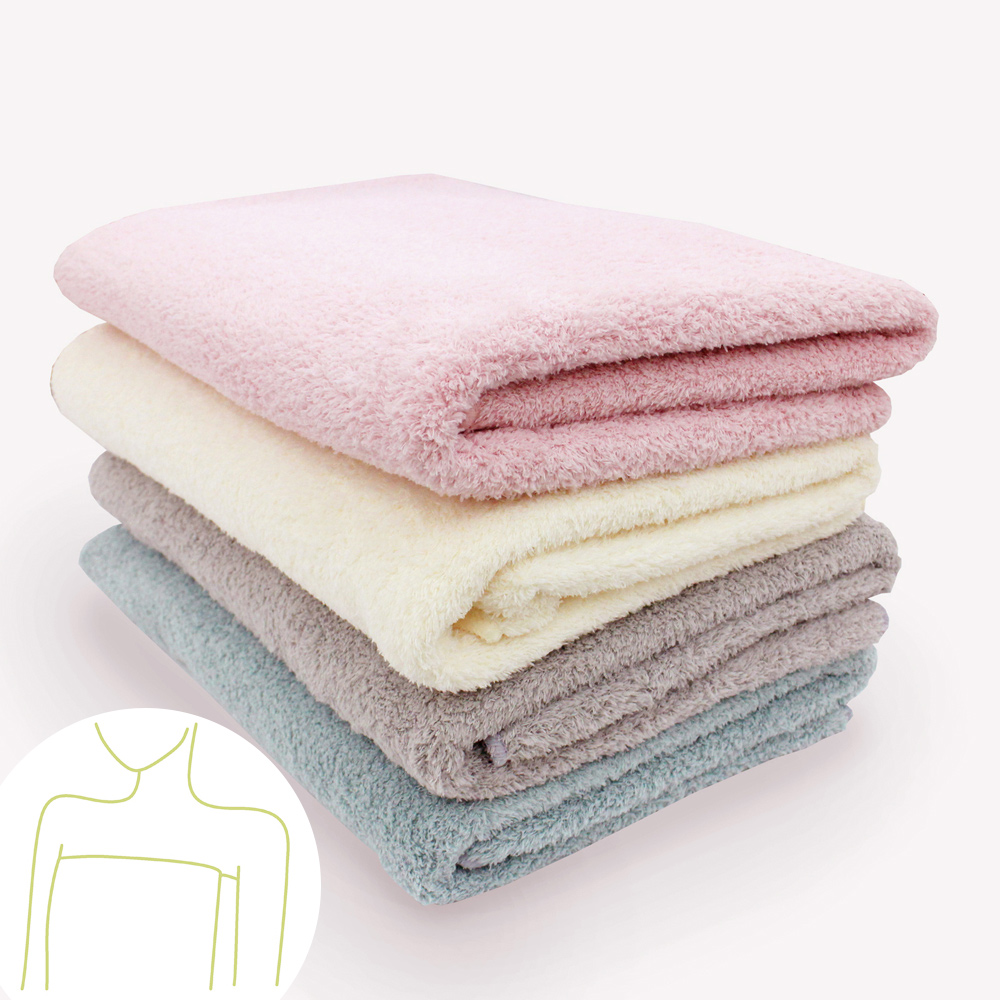 Fluffy雅絨柔舒大浴巾(1入-顏色隨機出貨)
