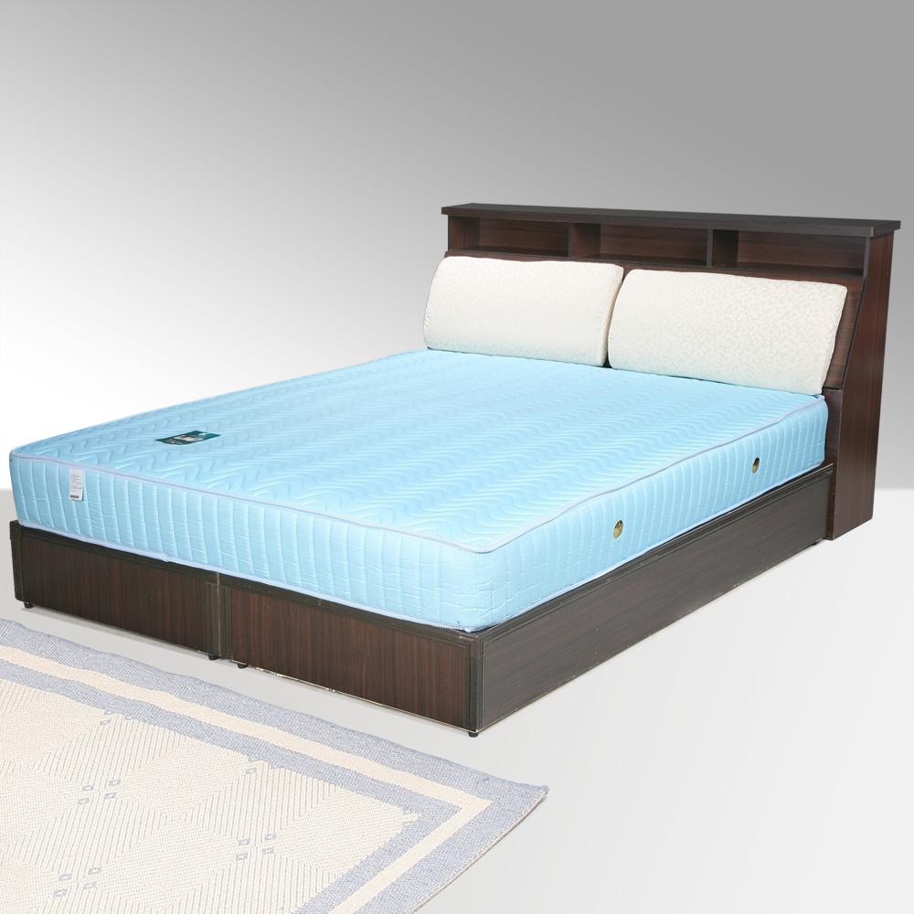 Homelike 黛絲5尺床組+獨立筒床墊-雙人(二色任選)