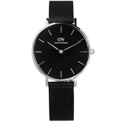 Daniel Wellington Classic 米蘭編織不鏽鋼手錶-鍍黑/32mm