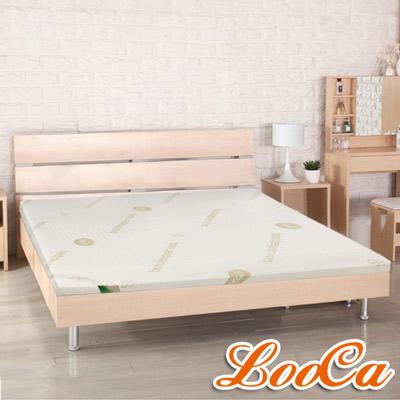 LooCa 高規HT旗艦透氣5cm乳膠床墊-加大6尺