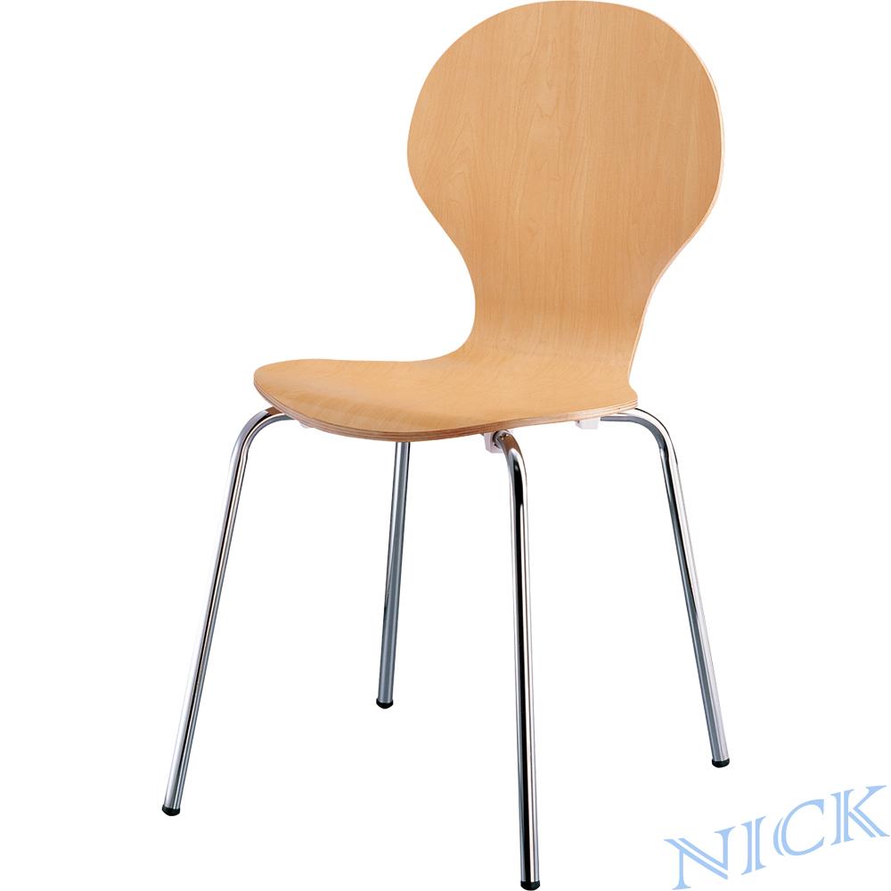 【NICK】 圓弧椅背實木成型洽談椅