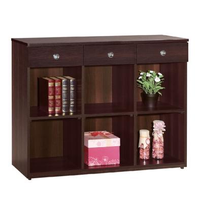 品家居黛樂4尺書櫃兩色可選-119.6x37.5x90.9cm-免組