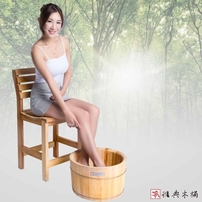 雅典木桶 珍貴國寶級檜木 泡腳桶(高30CM)