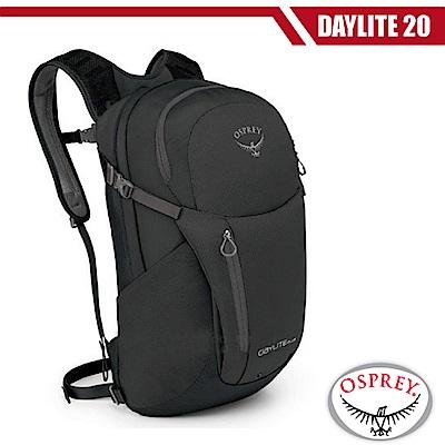 【OSPREY】新款 Daylite Plus 20L 超輕多功能隨身背包_黑 R