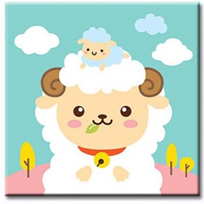 LOVIN 超萌韓版數字油畫 可愛羊(08) 1幅 20X20