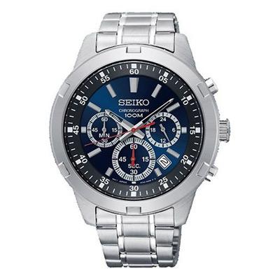 SEIKO 競速三眼計時藍面腕表(SKS603P1)x43mm