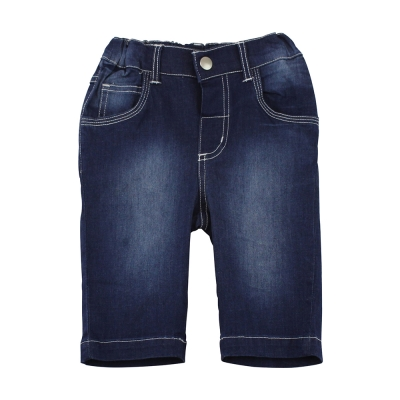 愛的世界 pappa&ciccia 兔耳車線口袋刷白牛仔七分褲/ 2 ~ 4 歲