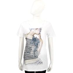 ANNA RACHELE 白色側身肖像棉質短袖T恤