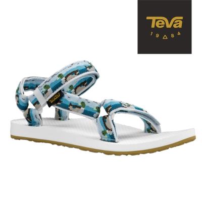 TEVA 美國-女 Original Universal 緹花織帶涼鞋 (鴨子藍)