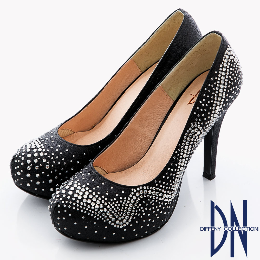 DN 幸福婚鞋 獨家訂製款bling水鑽高跟鞋-黑