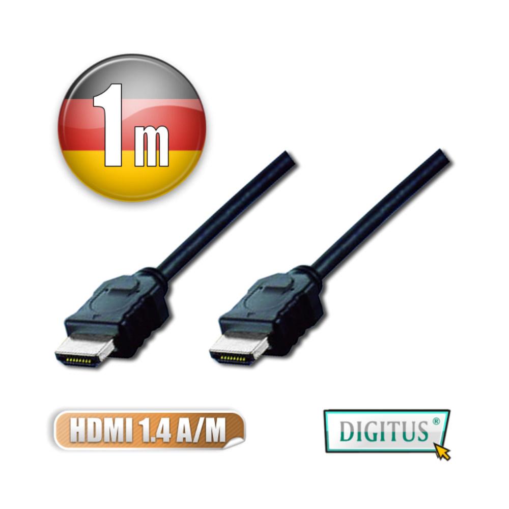 曜兆DIGITUS HDMI 1.4a圓線1公尺typeA