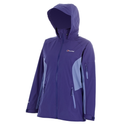 【Berghaus貝豪斯女款GT防水透氣刷毛二合一外套H22FP3-紫