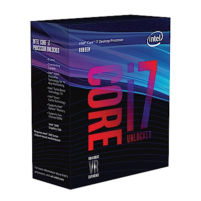 Intel 第八代 Core i7-8700K 六核心處理器《代理商貨》
