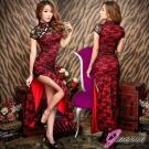 Gaoria 金陵四十六釵 改良式長版側開岔旗袍 情趣睡衣角色服