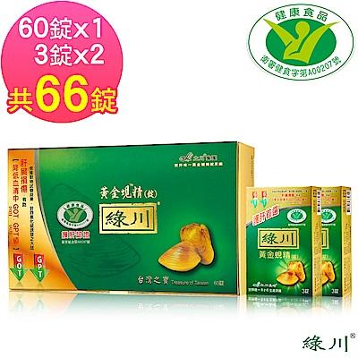 【綠川】黃金蜆精錠 健字號 護肝認證 66錠