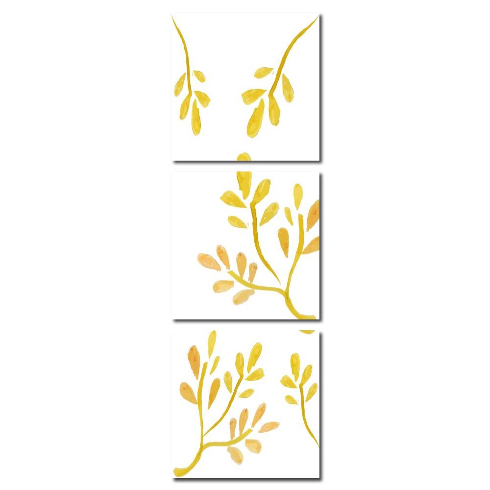 123點點貼- 三聯式壁貼重覆黏貼窗貼無痕不殘膠-是梅30*30cm