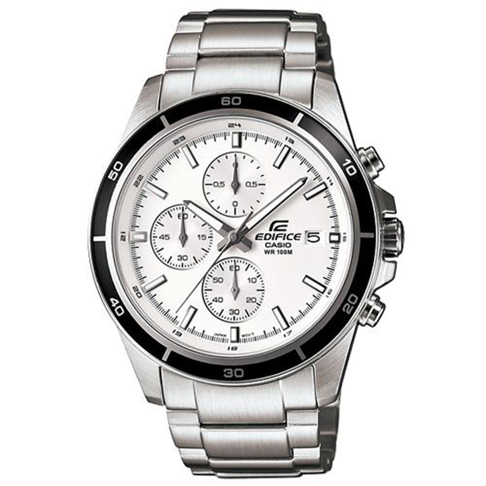 EDIFICE 精準時刻賽車計時腕錶(EFR-526D-7A)-白/43.8mm