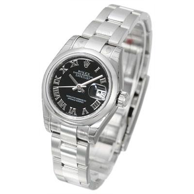 ROLEX 勞力士 Datejust 179160 蠔式恆動日誌型女錶 -黑x羅馬字/26mm
