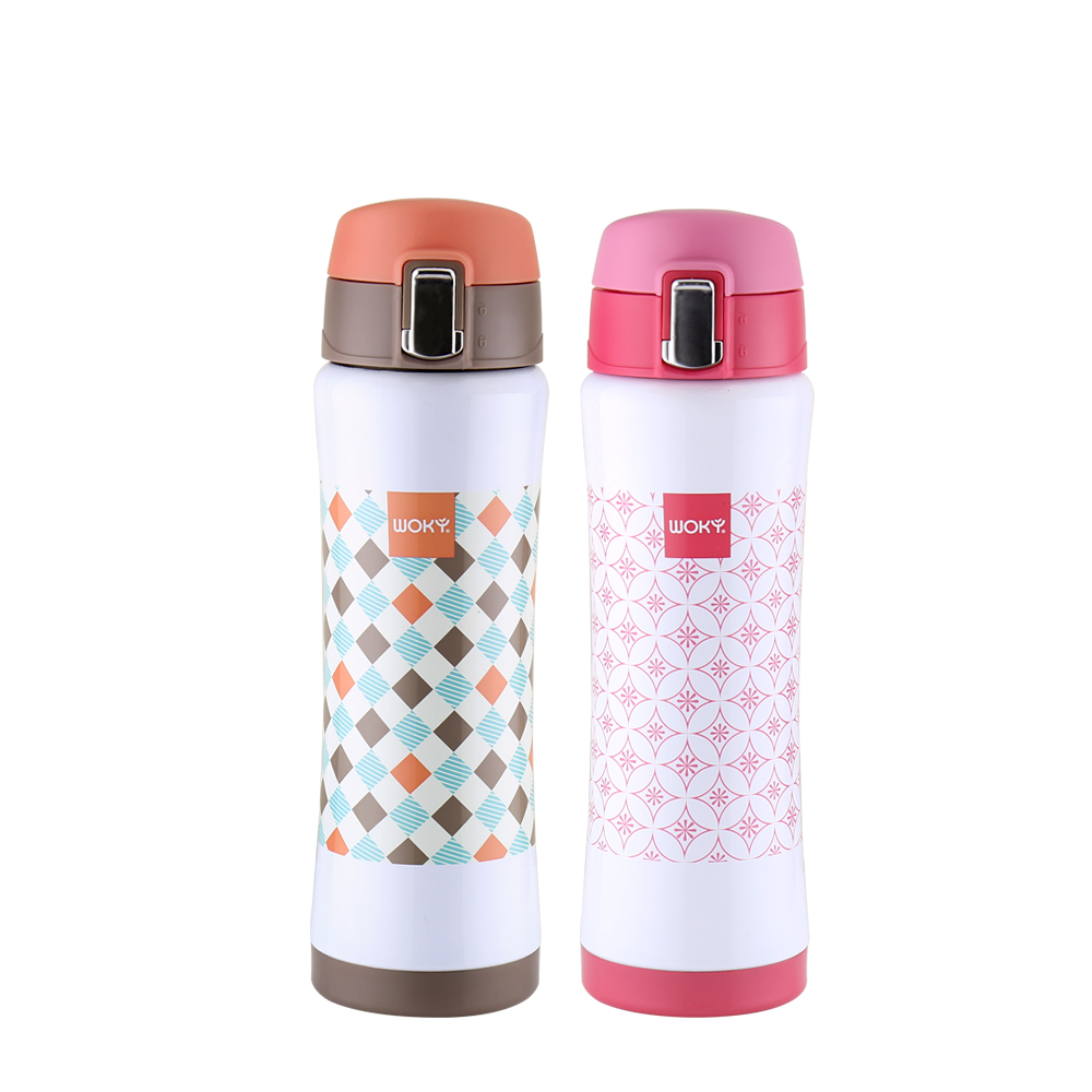 WOKY沃廚 POP ART 316不鏽鋼隨手保溫保冷瓶480ML(2色可選)