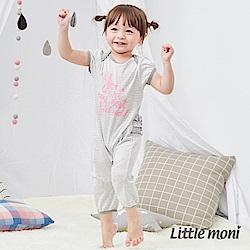 Little moni 家居系列短袖連身裝 (2色可選)