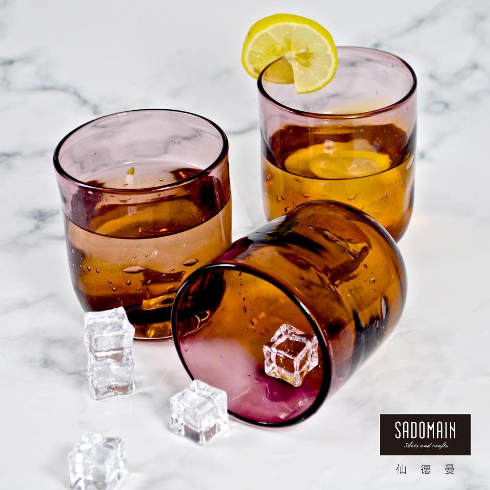 仙德曼SADOMAIN  彩玻水杯(紫茶)3入組