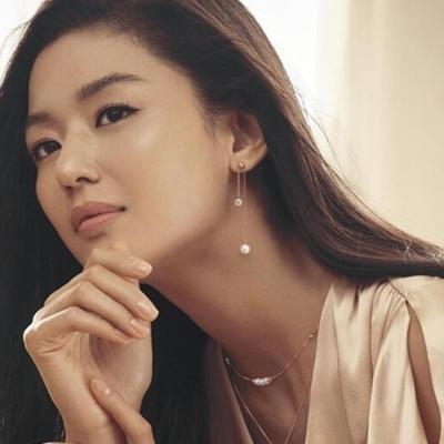 梨花HaNA  韓國藍色大海的傳說全智賢珍珠串飾鎖骨鍊