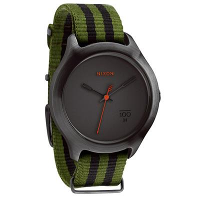 NIXON The QUAD 拼裝潮流都會休閒腕錶-鐵灰綠/39mm