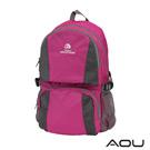AOU 商務旅行多層背包 輕量防潑水護脊紓壓機能後背包(輕盈桃)68-095