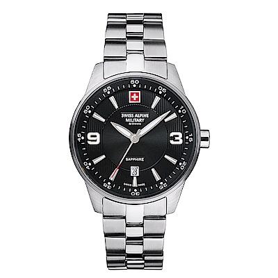 阿爾卑斯軍錶S.A.M -獨家限定-飛翼系列-黑/不鏽鋼鍊帶/41mm