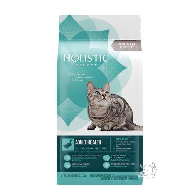 Holistic Select 活力滋 無穀成貓 鴨肉低敏除臭配方 11.5磅 X 1包