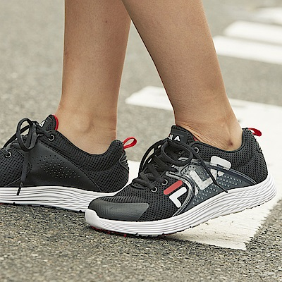 FILA #東京企劃 街頭運動鞋 中性慢跑鞋-日晷黑4-J026S-001