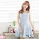 東京著衣-yoco 蕾絲拼接立體印花無袖洋裝-XS.S.M(共二色)