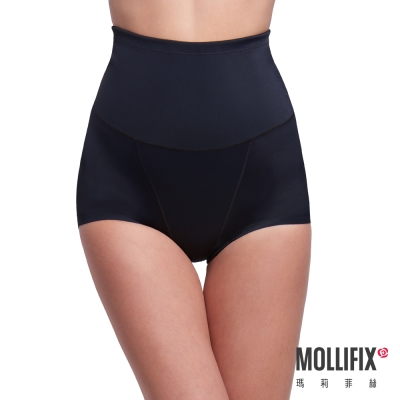 Mollifix 隱形殺手纖腰收腹平口褲(黑)