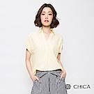 CHICA 春氛花藝蕾絲設計開襟襯衫(2色)