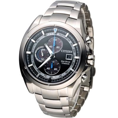 CITIZEN 星辰 光動能關鍵任務計時腕錶(CA0551-50E)-黑/44mm