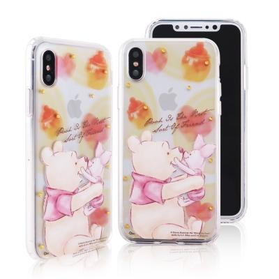 Disney迪士尼iPhone X施華洛世奇水鑽雙料保護殼_經典手繪維尼小豬